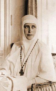 Великая княгиня Елизавета Федоровна — настоятельница Марфо-Мариинской обители милосердия. 1910-е гг.