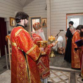 Епископ Дмитровский Феофилакт совершил чин малого освящения нового храма и Божественную литургию