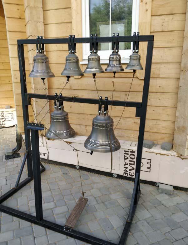 Совершен чин освящения колоколов для строящегося храма