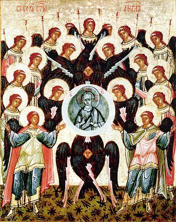 Собор Архистратига Михаила и прочих Небесных Сил бесплотных: Архангелов Гавриила, Рафаила, Уриила, Селафиила, Иегудиила, Варахиила и Иеремиила