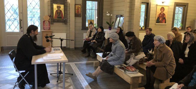 Состоялась очередная беседа с иереем Алексием Кнутовым